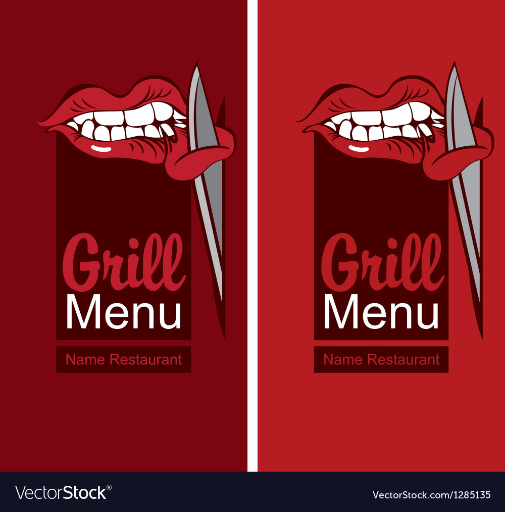 Grill menu vector | Price: 1 Credit (USD $1)