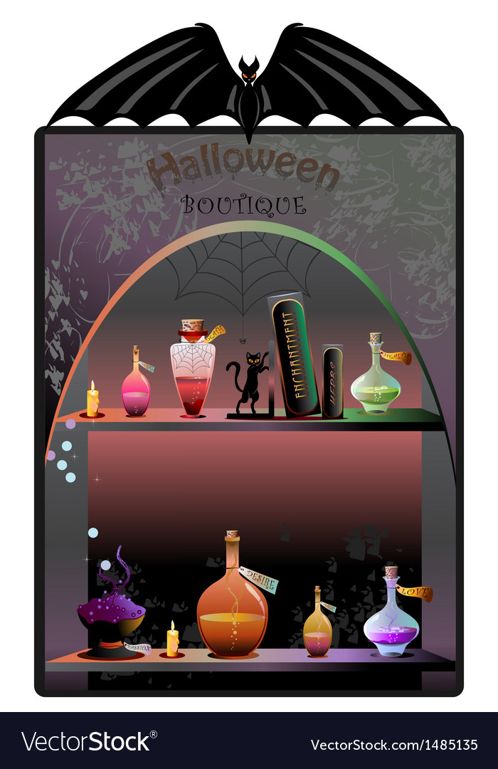 Halloween boutique background vector | Price: 1 Credit (USD $1)