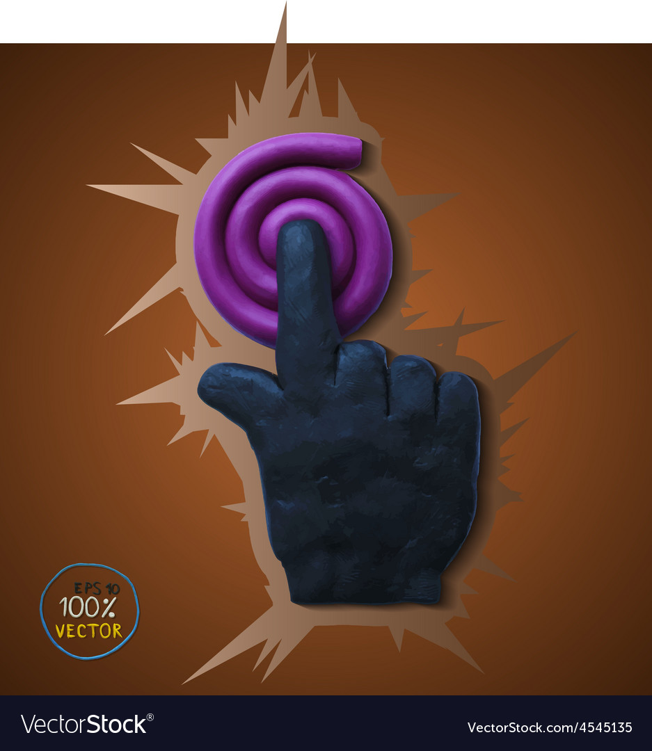 Hand icon pointer vector | Price: 1 Credit (USD $1)