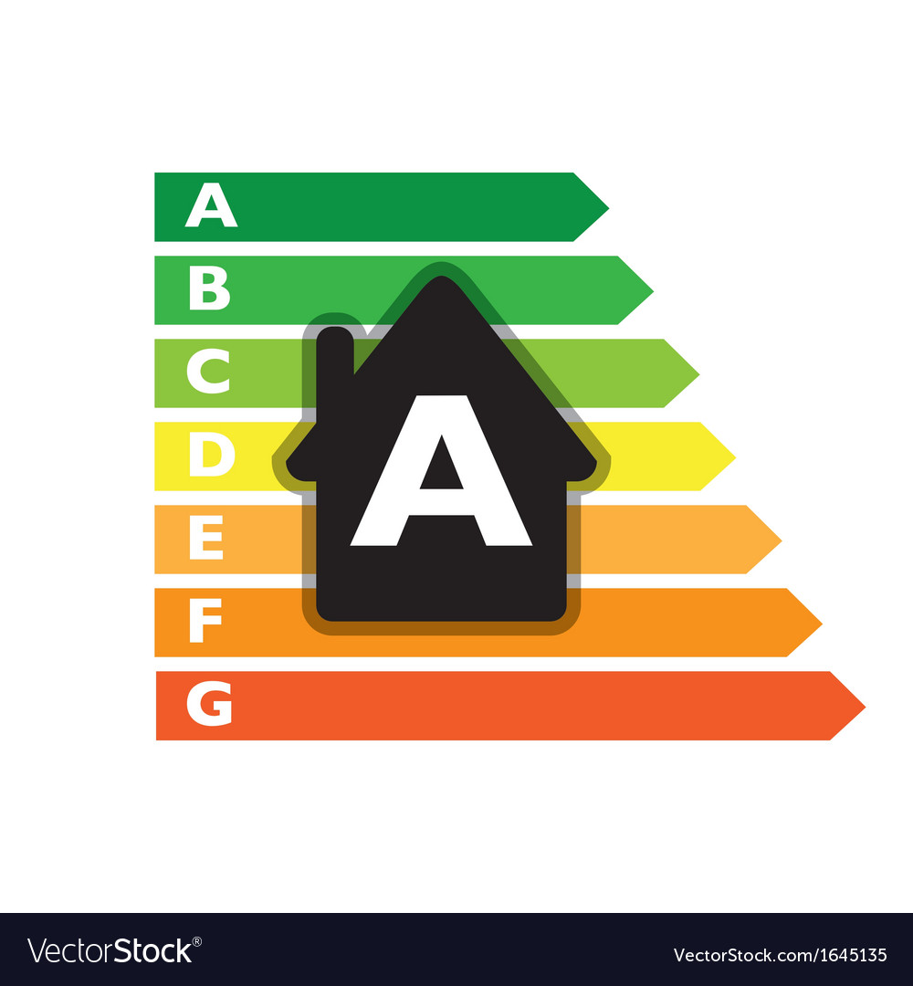Houses efficiency label vector | Price: 1 Credit (USD $1)