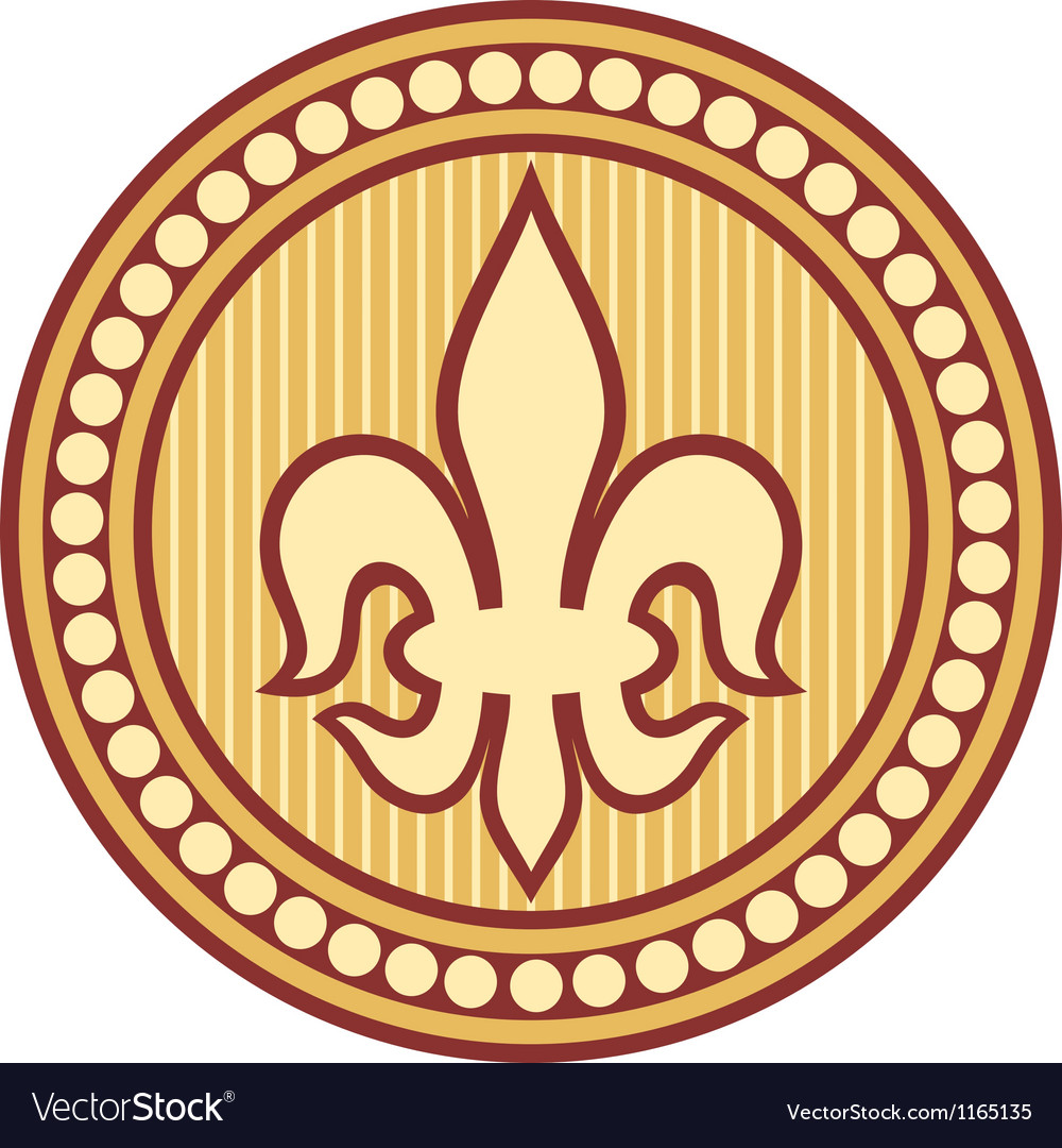 Lily flower - lily heraldic symbol vector | Price: 1 Credit (USD $1)