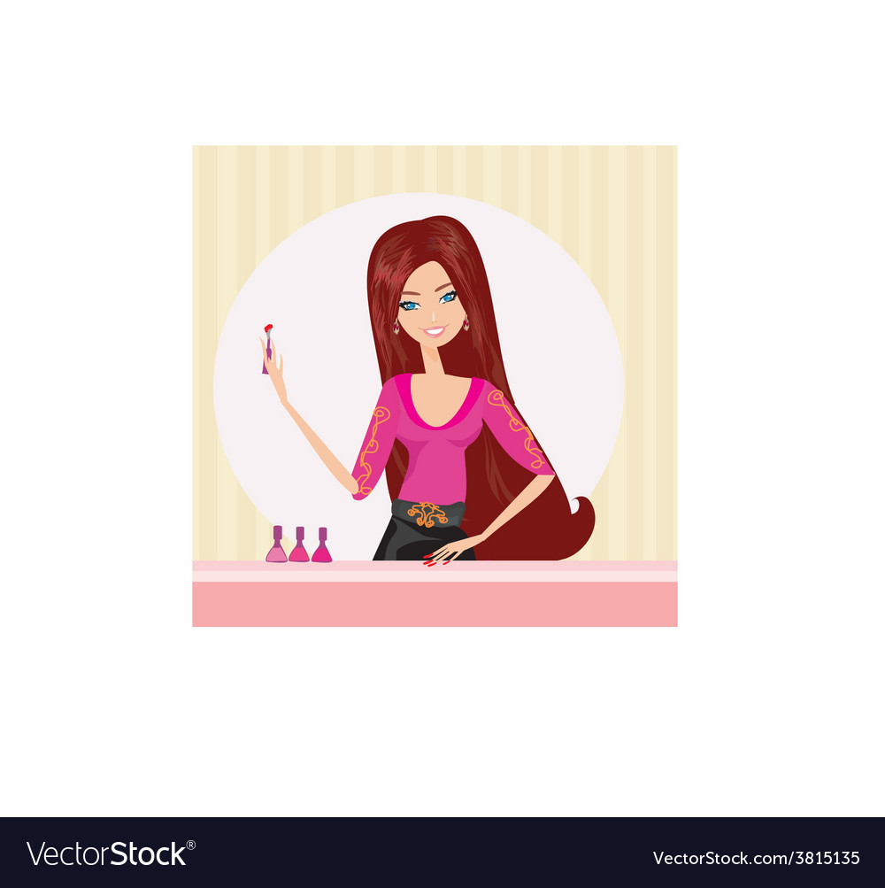 Manicure lady vector | Price: 1 Credit (USD $1)