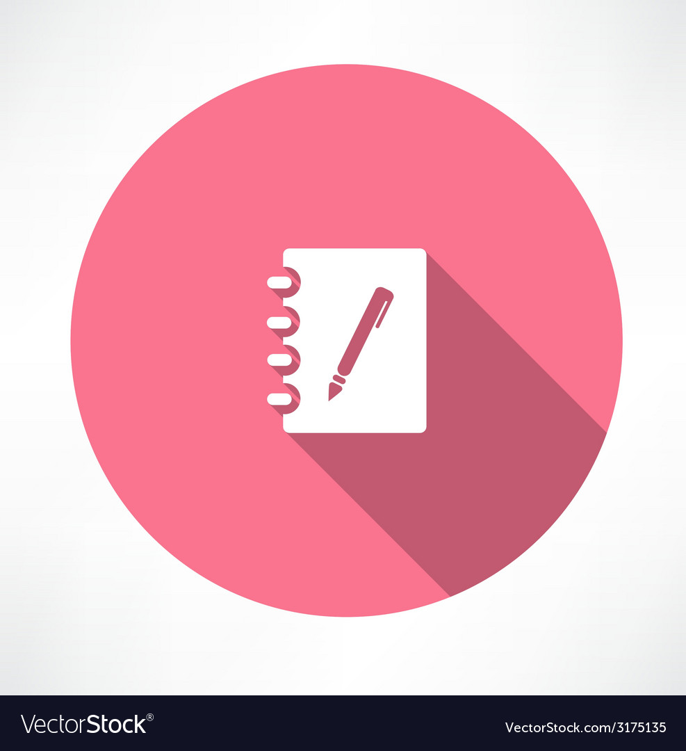 Note and pen icon vector | Price: 1 Credit (USD $1)