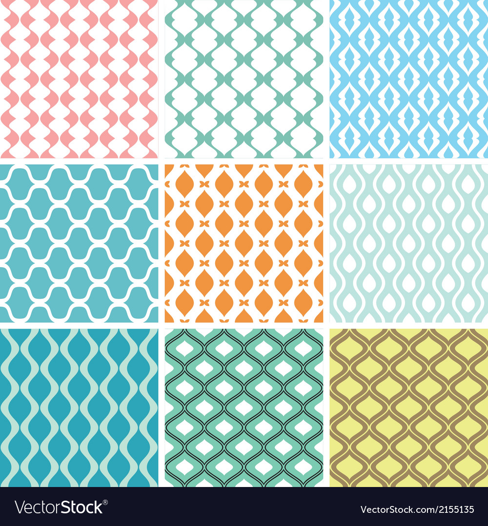 Seamless ornament patterns vector | Price: 1 Credit (USD $1)