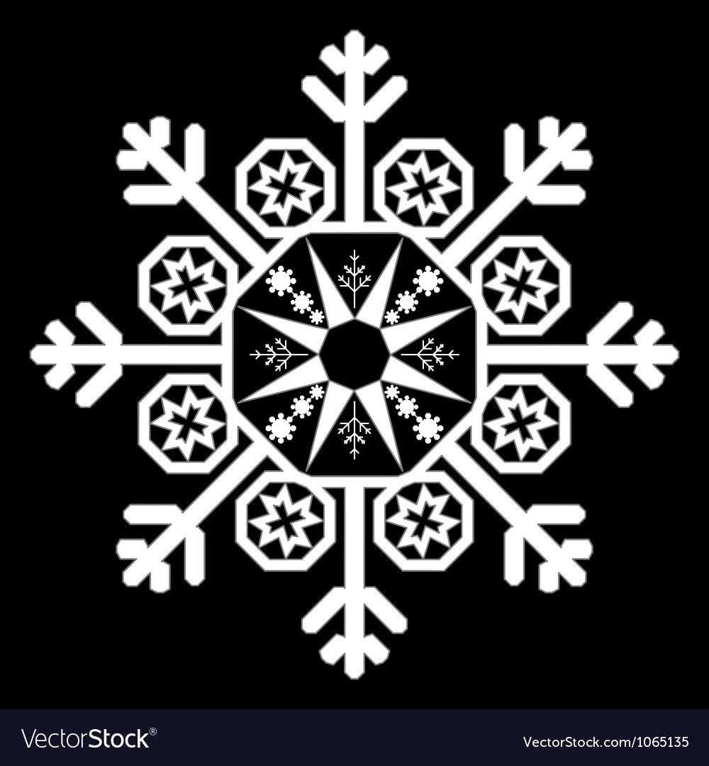 Single white snowflake vector | Price: 1 Credit (USD $1)