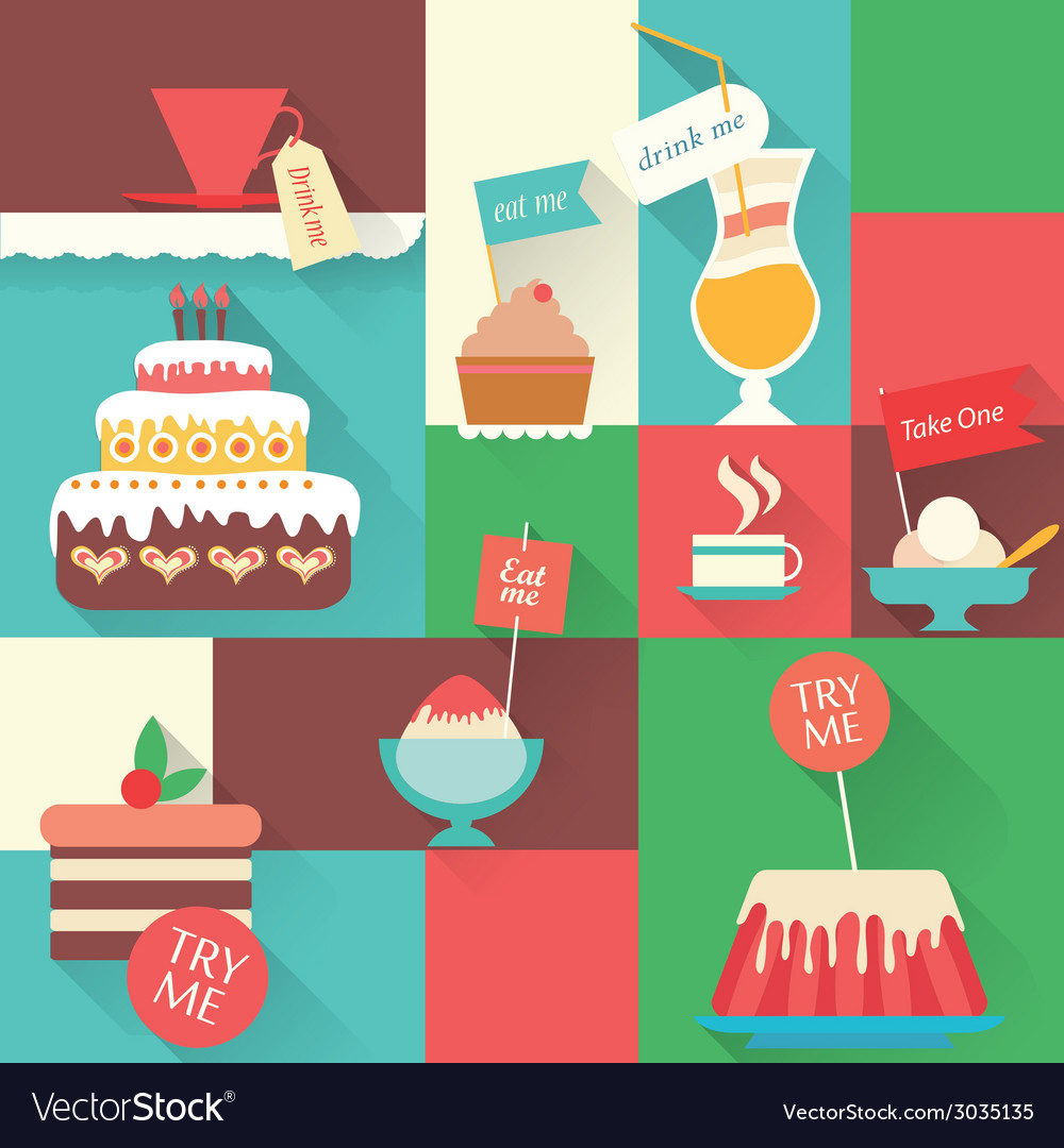 Sweet dessert ccard vector | Price: 1 Credit (USD $1)