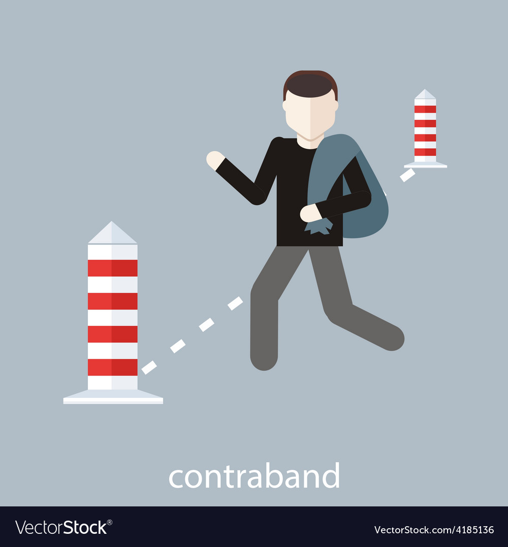 Contraband concept vector | Price: 1 Credit (USD $1)