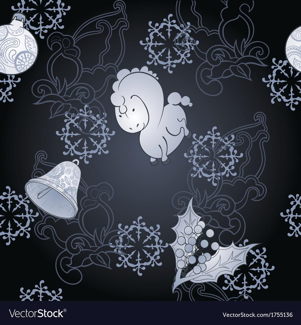 Dark christmas background vector | Price: 1 Credit (USD $1)
