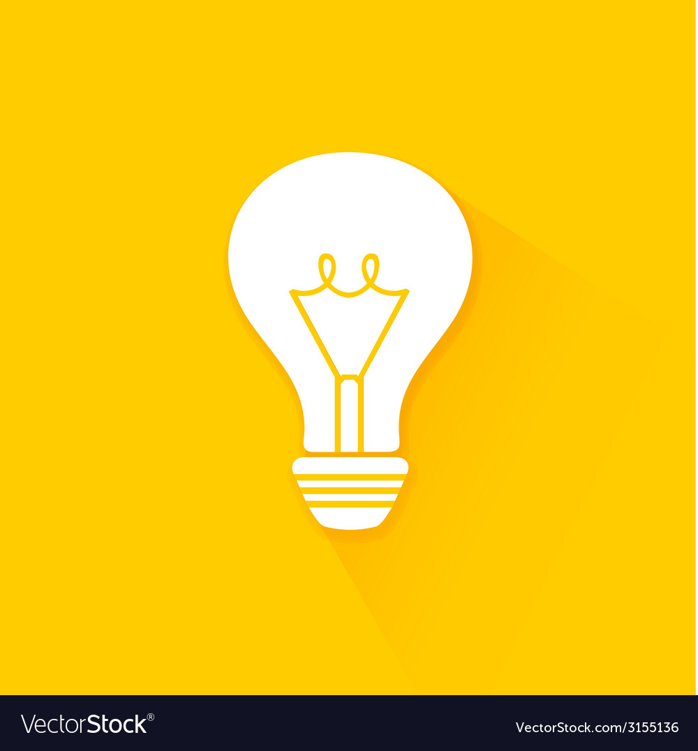 Flat long shadow light bulb icons vector | Price: 1 Credit (USD $1)