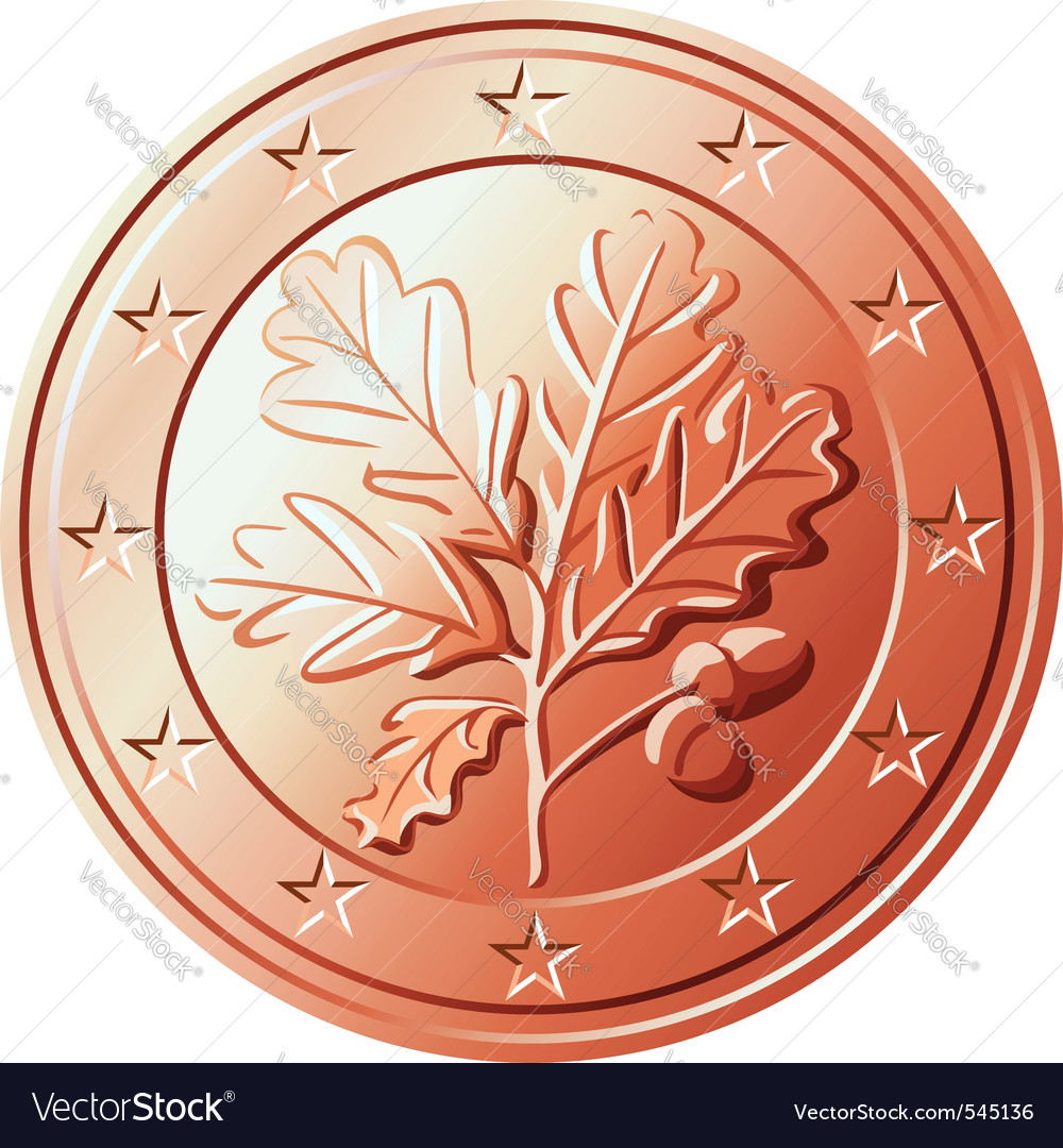 German coin euro cents vector | Price: 1 Credit (USD $1)