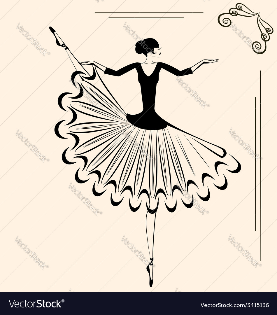 Image of ballet dancer vector | Price: 1 Credit (USD $1)