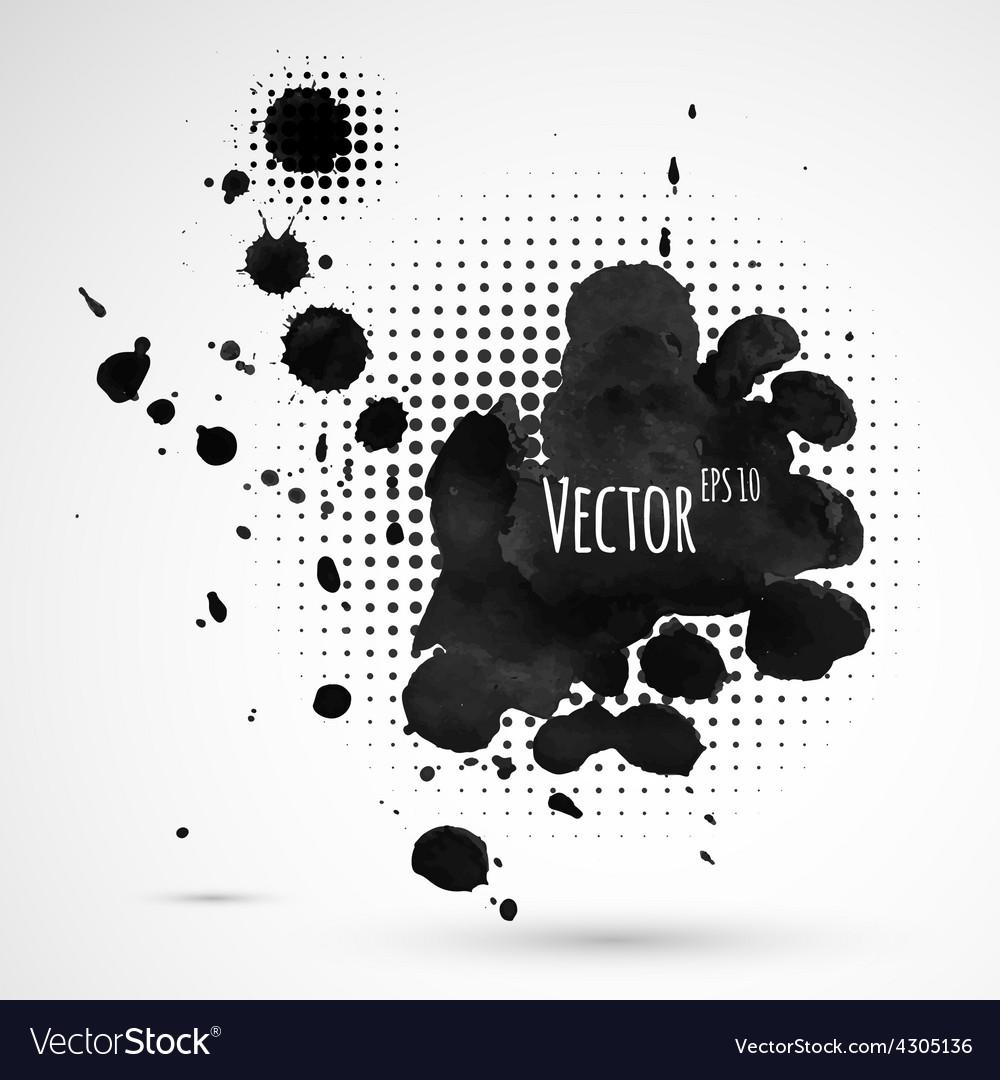 Inky halftone splashes vector | Price: 1 Credit (USD $1)