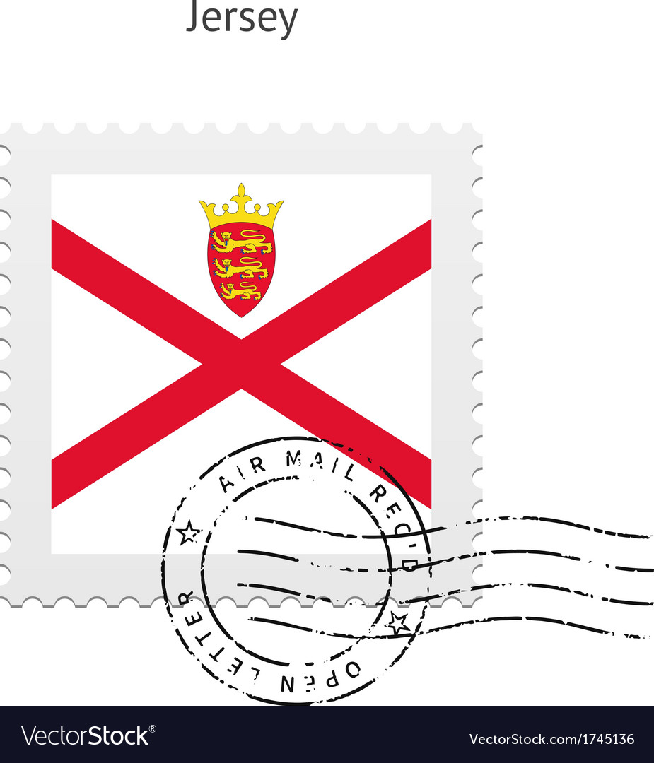 Jersey flag postage stamp vector | Price: 1 Credit (USD $1)