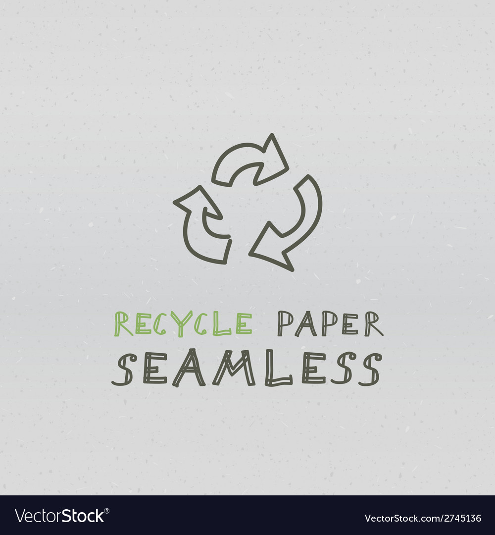 Recycle paper seamless vector | Price: 1 Credit (USD $1)