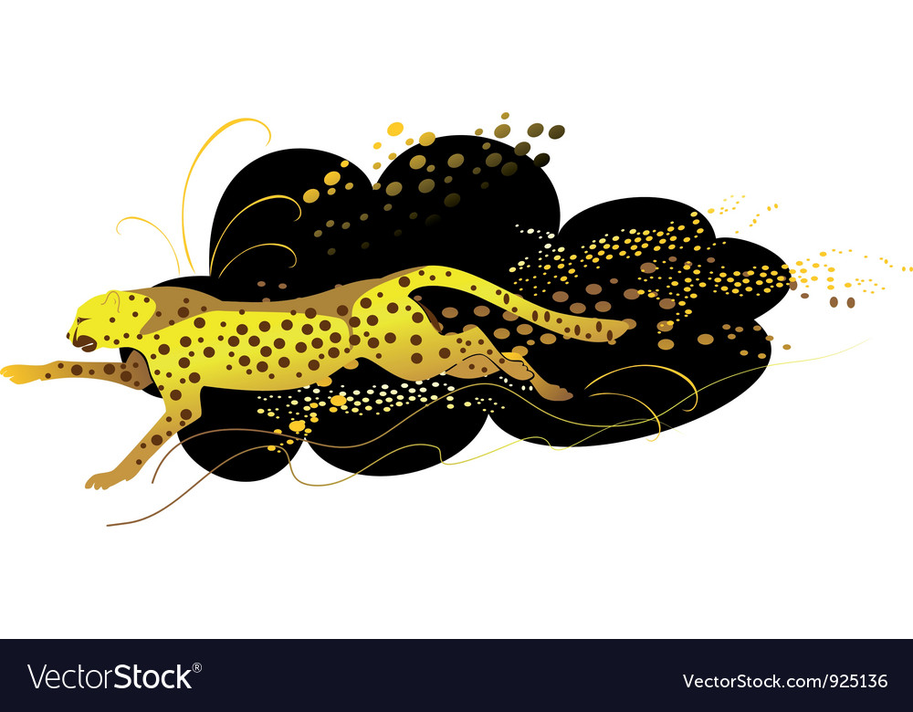 Running cheetah vector | Price: 1 Credit (USD $1)