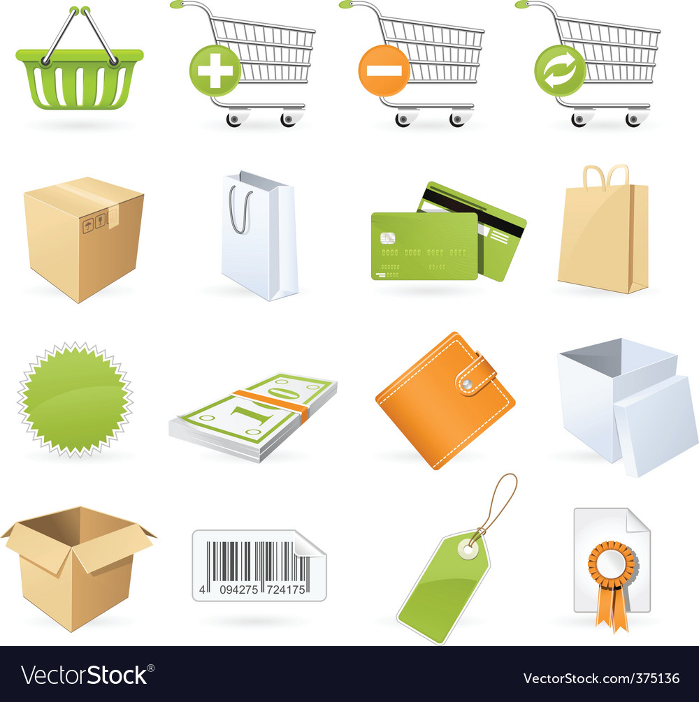 Shopping and retail icons vector | Price: 3 Credit (USD $3)
