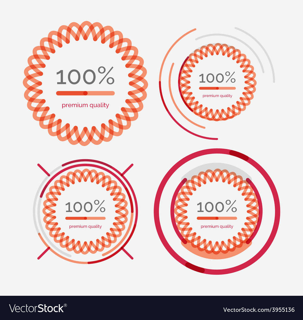 Thin line neat design logo set premium quality vector | Price: 1 Credit (USD $1)