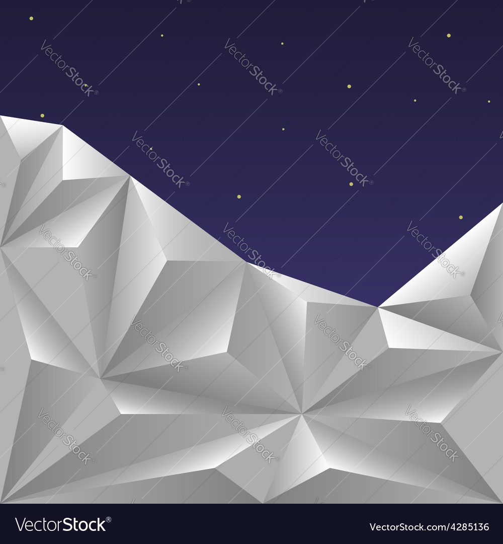 Winter polygonal sky vector | Price: 1 Credit (USD $1)