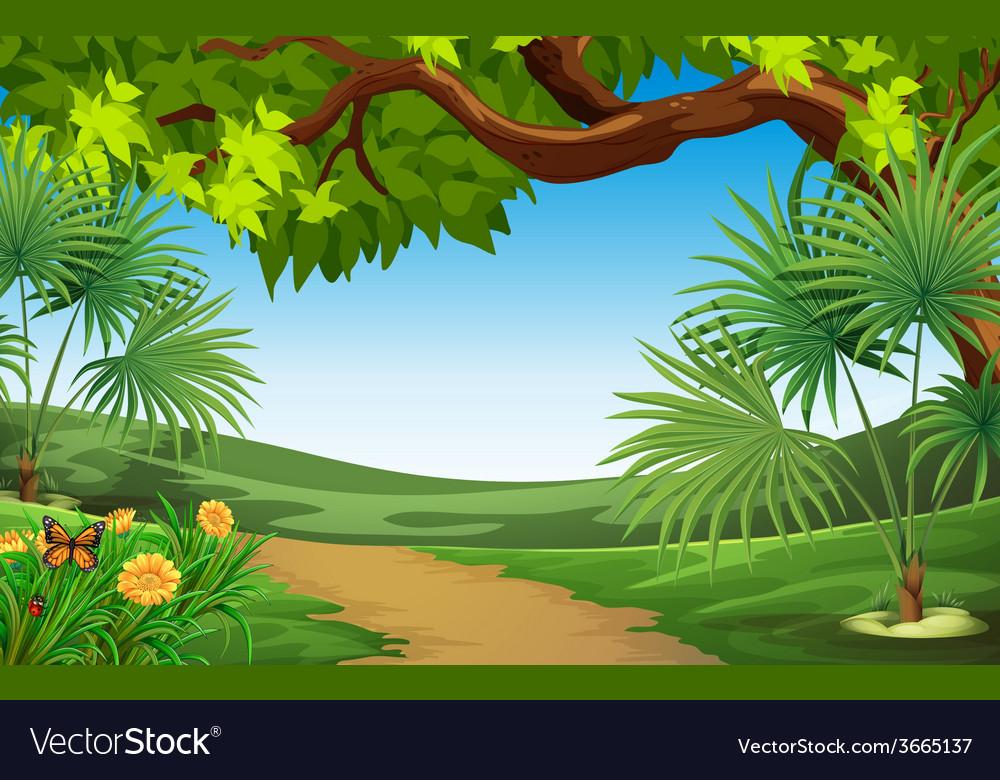 A beautiful landscape vector | Price: 3 Credit (USD $3)