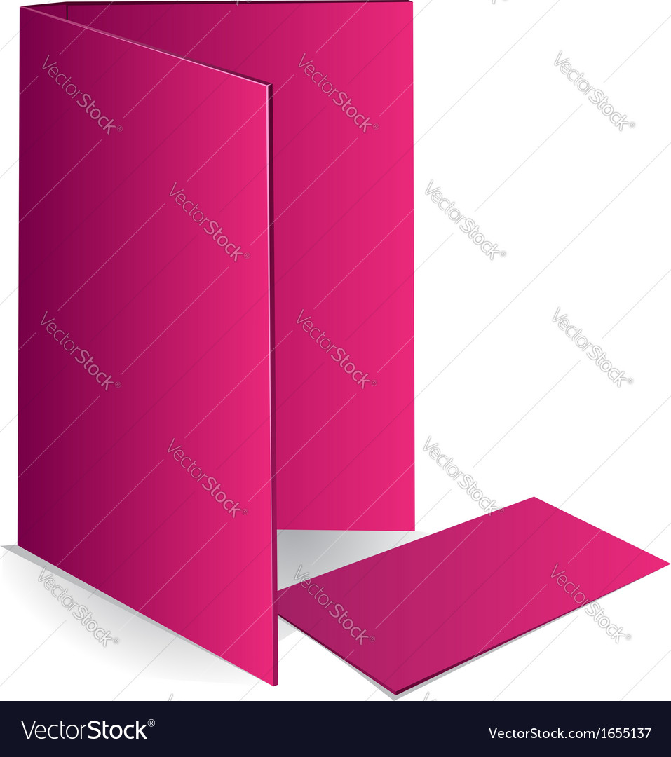 Background pink business card and document case vector | Price: 1 Credit (USD $1)