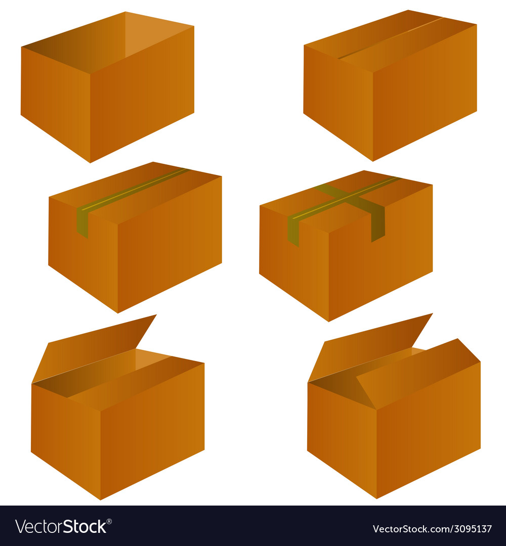 Brown cardboard shipping box vector | Price: 1 Credit (USD $1)