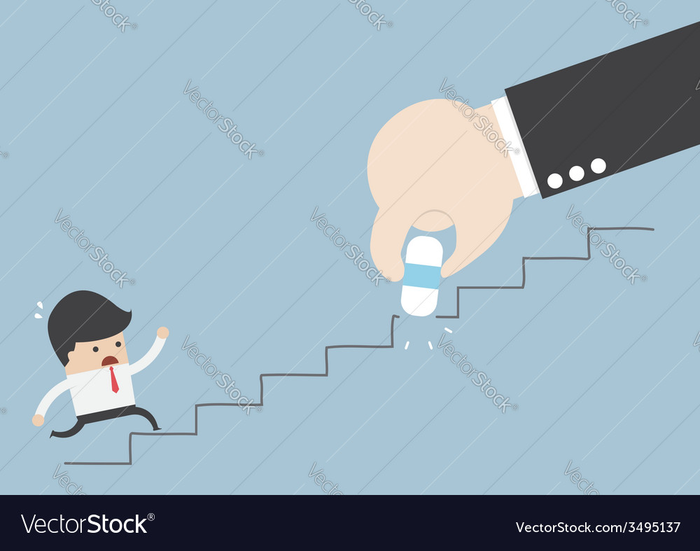 Business rival concept businessman hand holding e vector | Price: 1 Credit (USD $1)