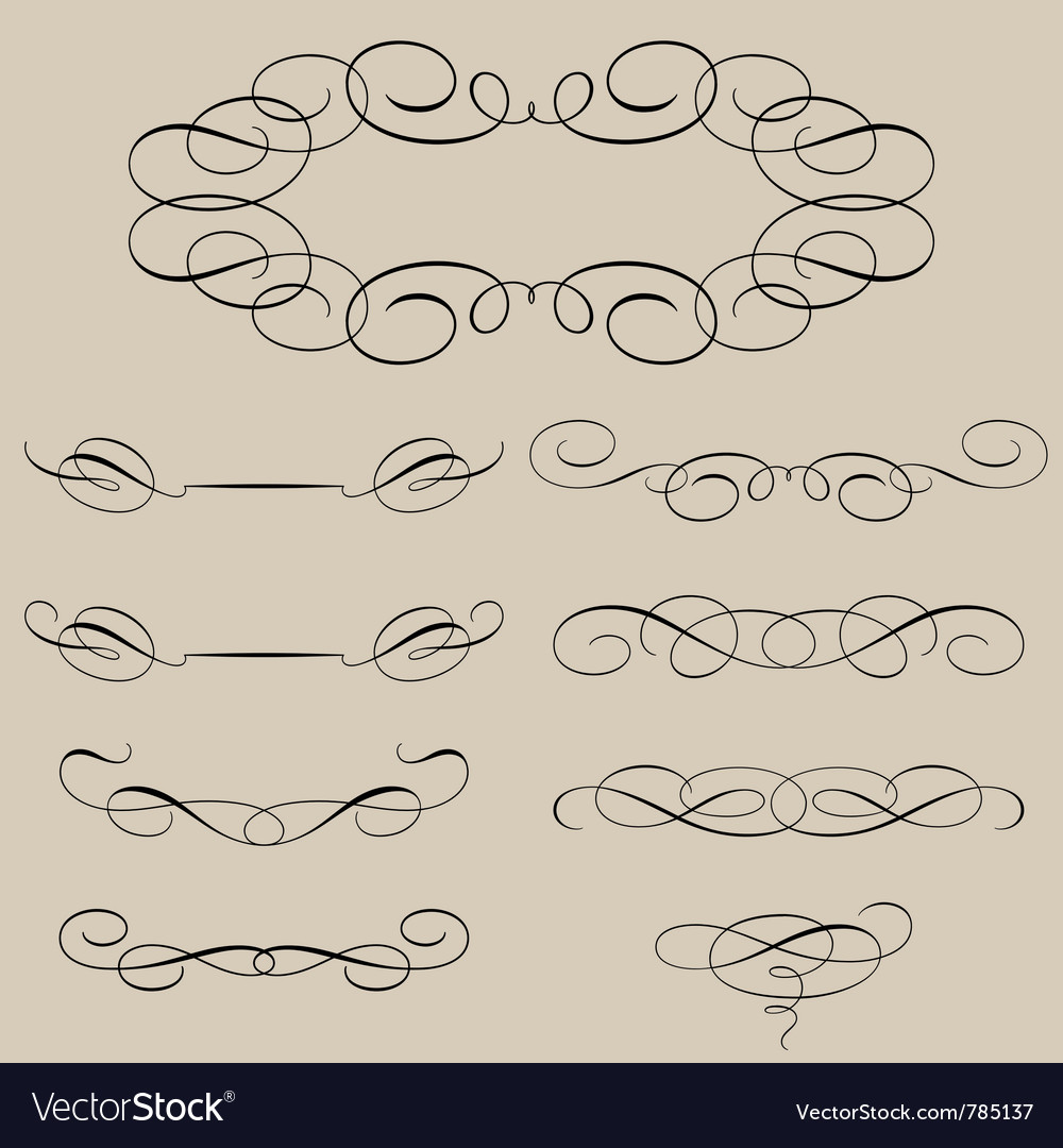 Calligraphic elements vector | Price: 1 Credit (USD $1)