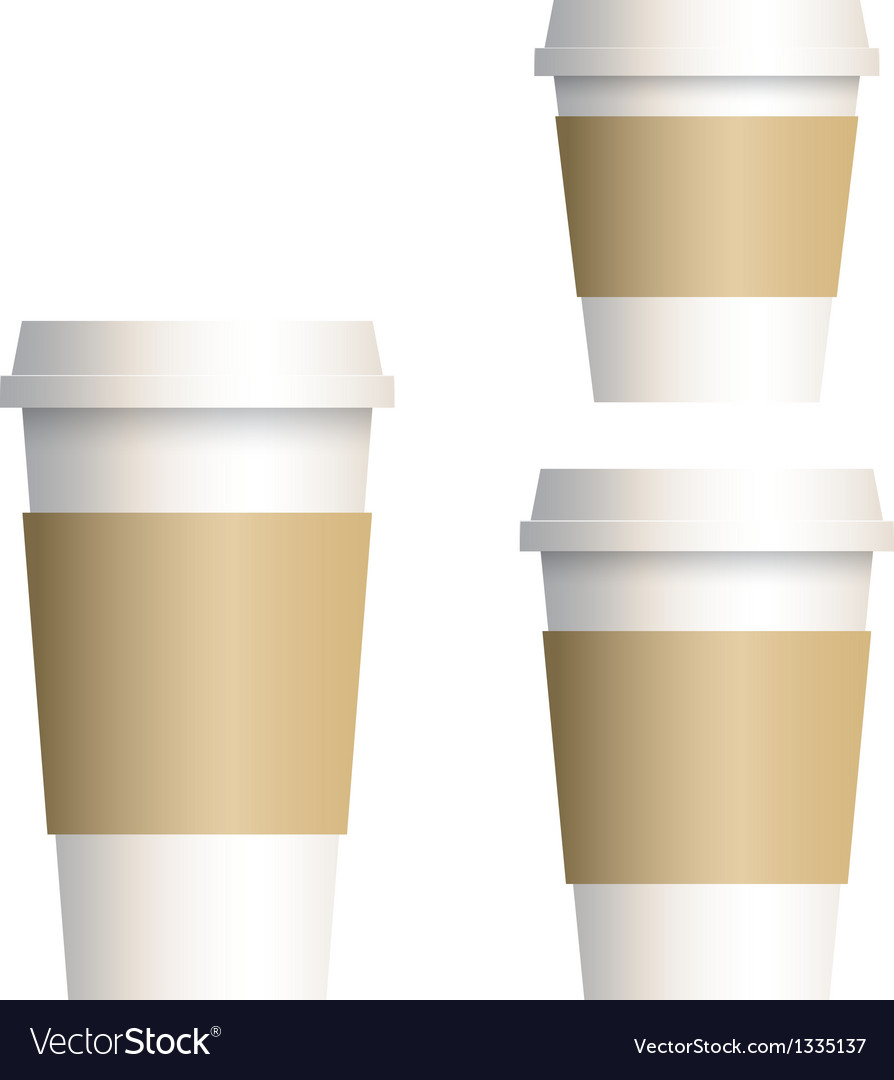 Coffee cup 3 size vector | Price: 1 Credit (USD $1)