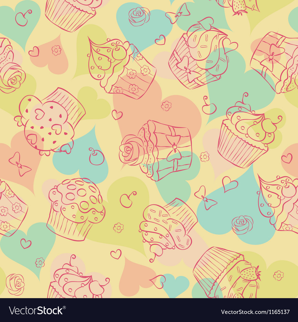 Cupcake seam vector | Price: 1 Credit (USD $1)