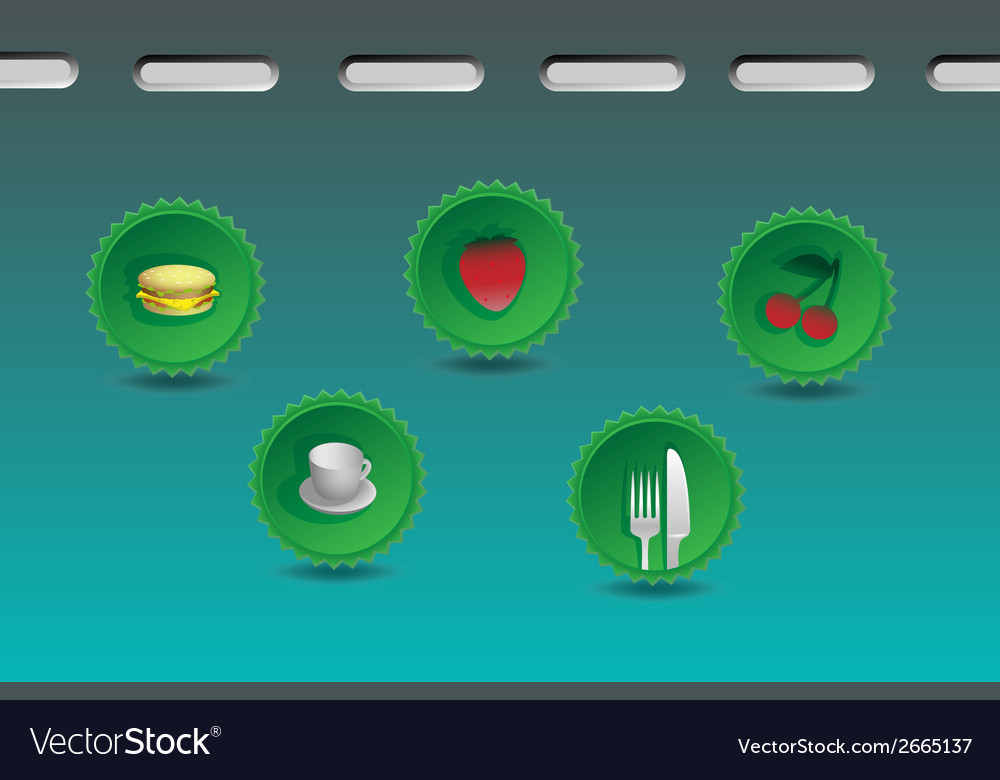 Food icons in a set vector | Price: 1 Credit (USD $1)