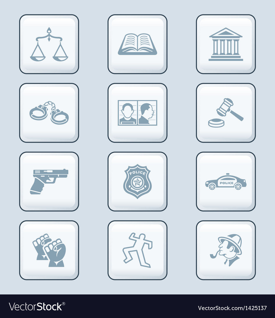 Law and order icons - tech series vector   Price: 1 Credit (USD $1)