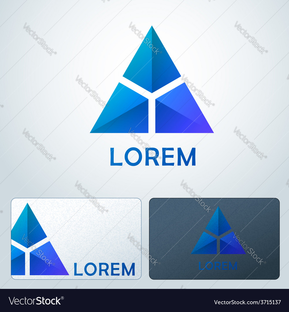 Logotype blue triangles vector | Price: 1 Credit (USD $1)
