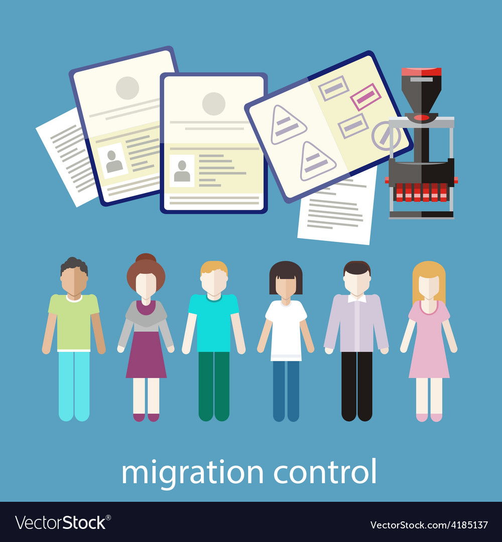 Migration control vector | Price: 1 Credit (USD $1)