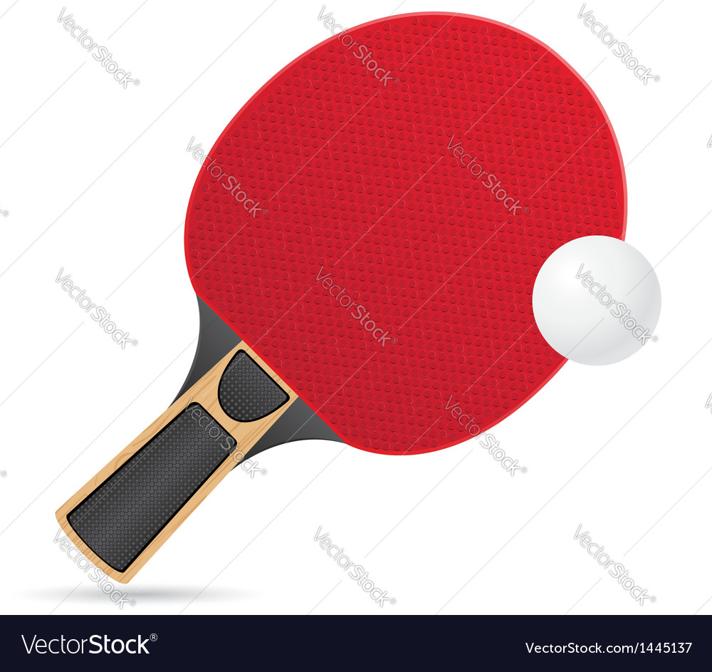 Racket and ball for table tennis ping pong vector | Price: 1 Credit (USD $1)