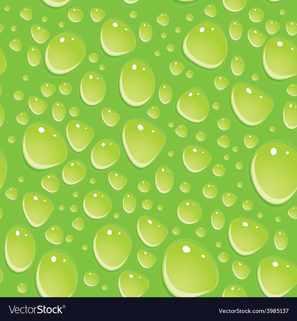 Seamless green pattern with water drops vector | Price: 1 Credit (USD $1)
