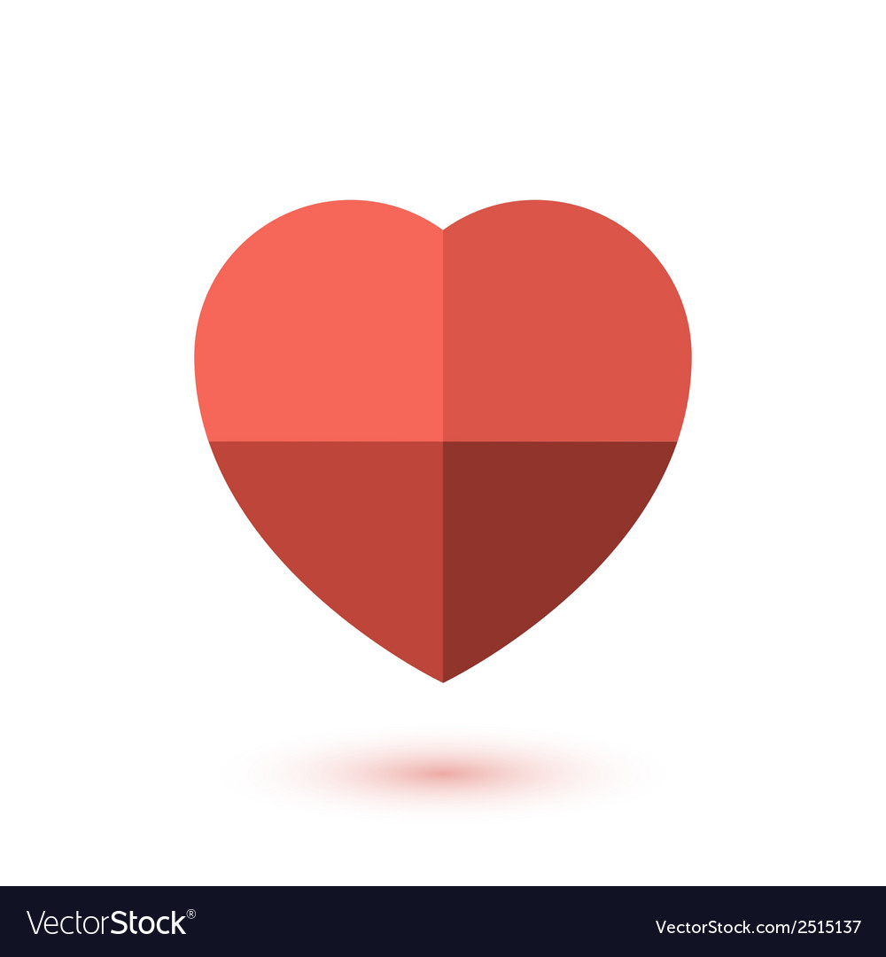 Simple red paper heart icon vector | Price: 1 Credit (USD $1)