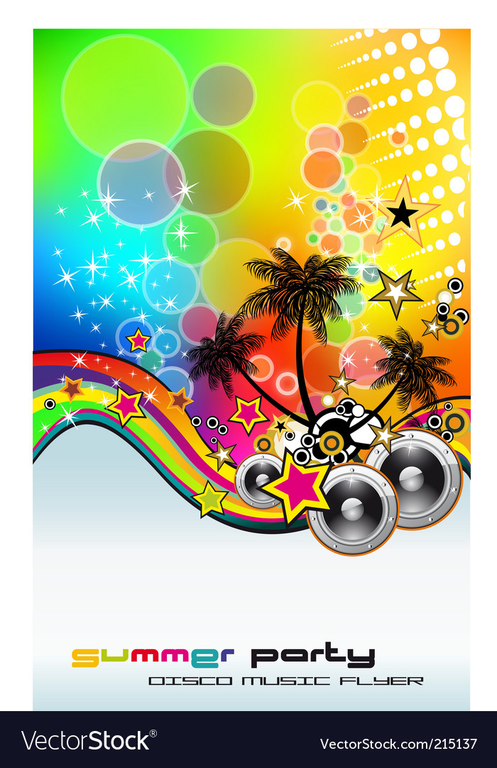 Tropic rainbow mesh vector | Price: 3 Credit (USD $3)
