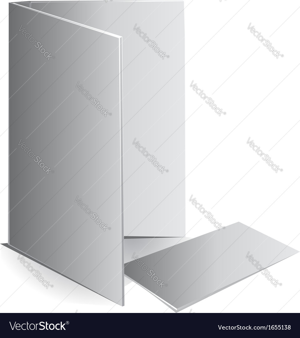 Background white visit card and document case vector | Price: 1 Credit (USD $1)