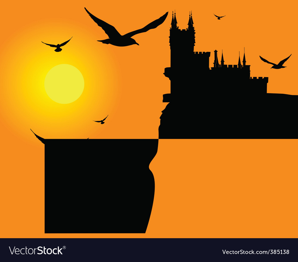 Bird sunset vector | Price: 1 Credit (USD $1)