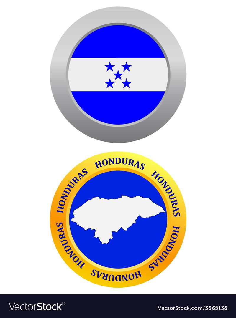 Button as a symbol honduras vector | Price: 1 Credit (USD $1)