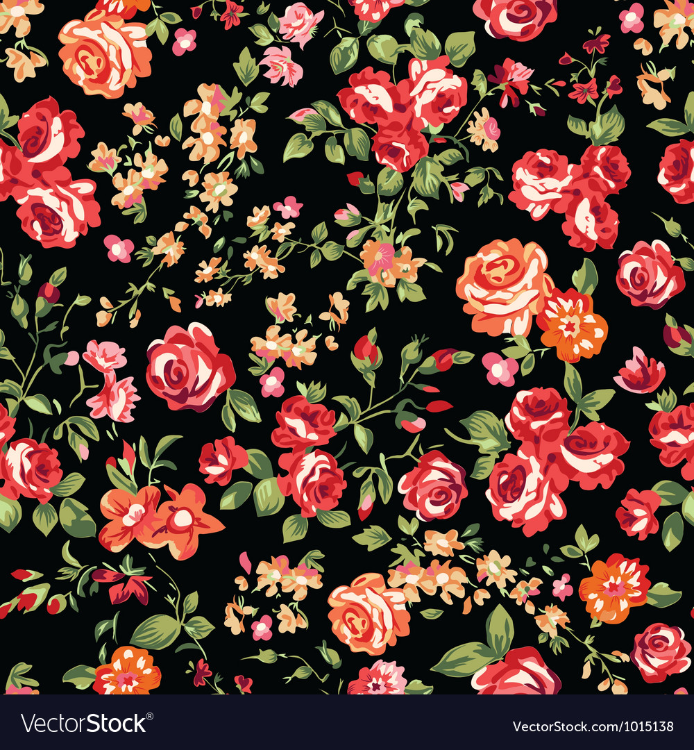 Classic roses seamless background vector | Price: 1 Credit (USD $1)