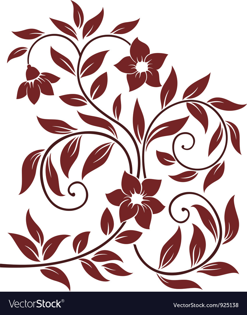 Decorative floral background vector | Price: 1 Credit (USD $1)