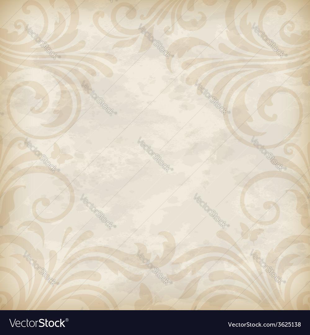 Decorative vintage background vector | Price: 1 Credit (USD $1)