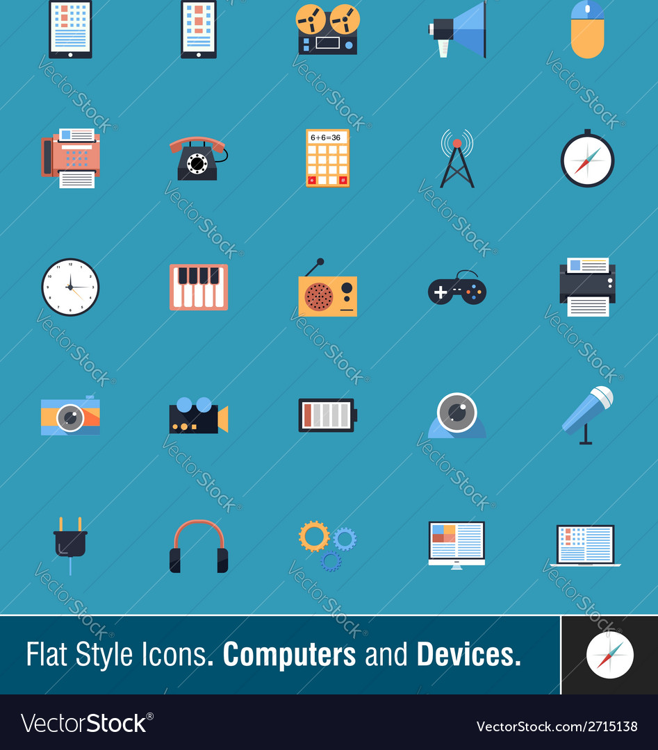 Device icons 2 vector | Price: 1 Credit (USD $1)