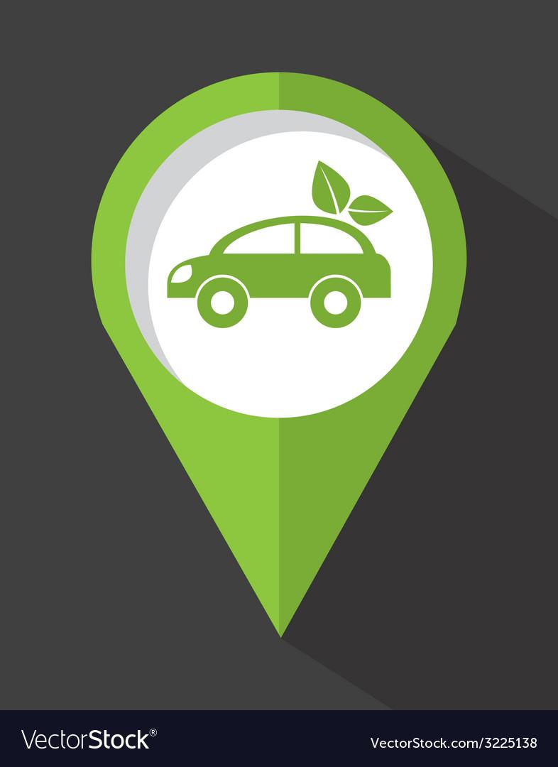 Eco car design vector | Price: 1 Credit (USD $1)