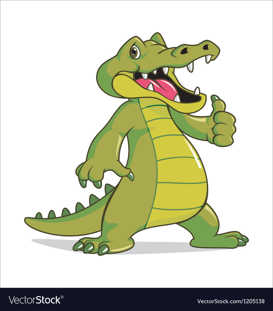 Happy crocodile vector | Price: 3 Credit (USD $3)