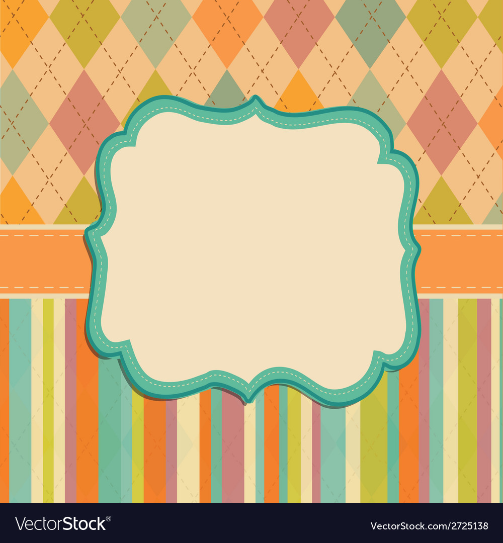Invitation card background border frame patterns vector | Price: 1 Credit (USD $1)