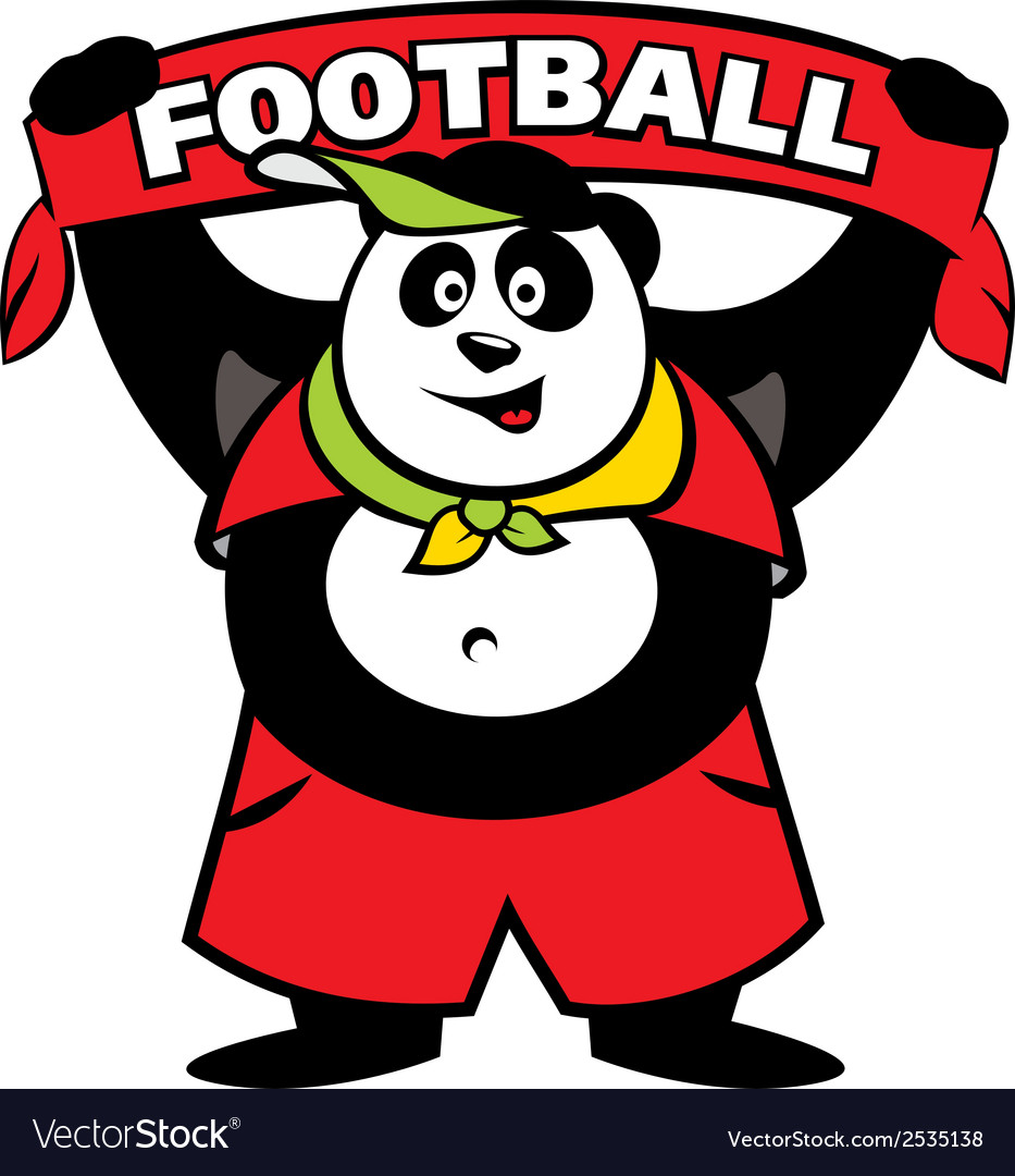 Panda fan logo vector | Price: 1 Credit (USD $1)