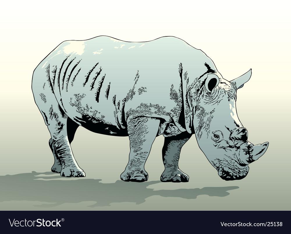 Rhinoceros vector | Price: 1 Credit (USD $1)