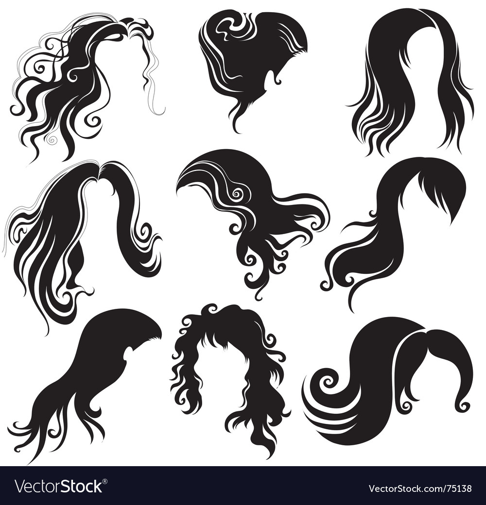 Set of hair styling vector | Price: 1 Credit (USD $1)